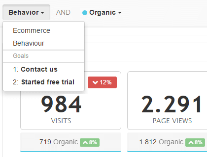 Google analytics integration screenshot